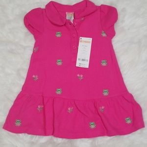 Gymboree fuchsia short sleeves embroidered dress